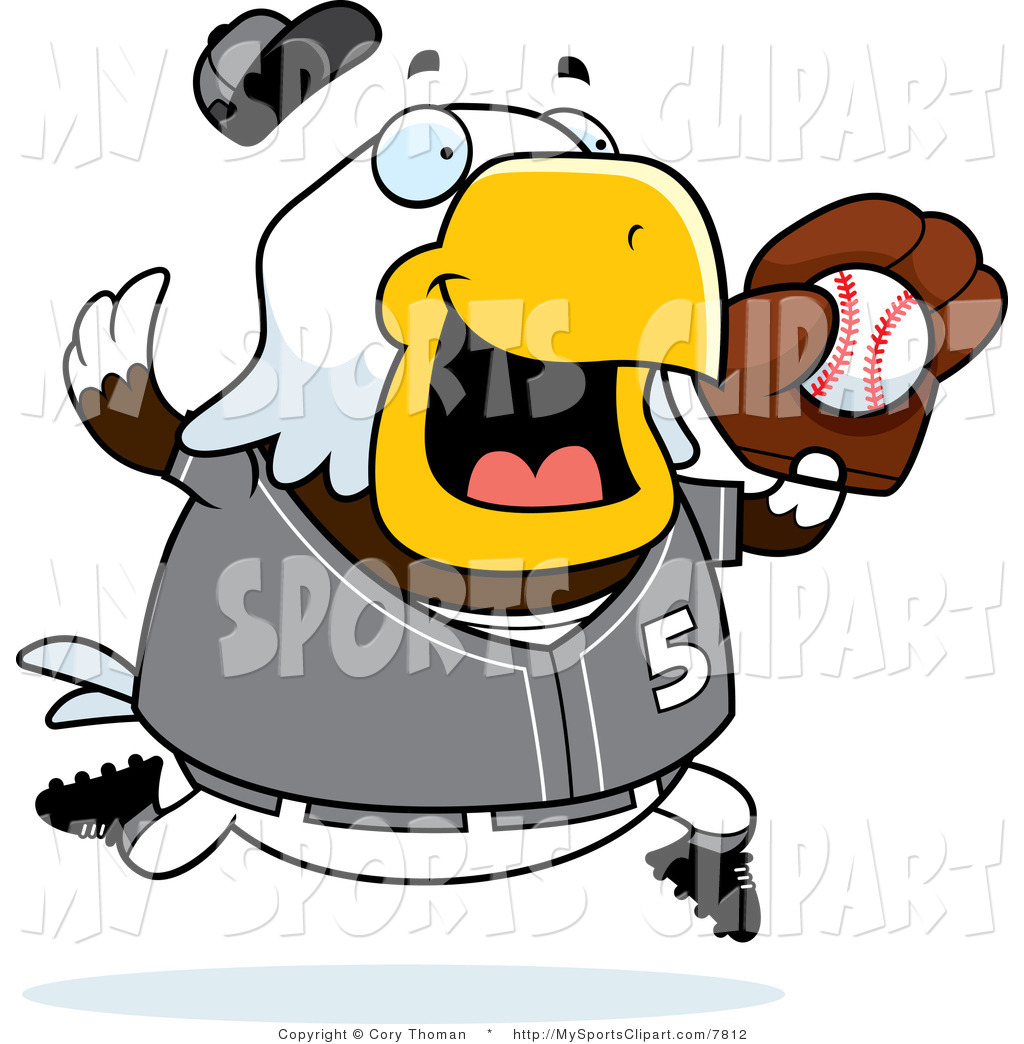 1024x1044 Sports Clip Art Of A Bald Eagle Playing Baseball In Gray By Cory