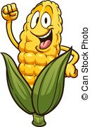 128x179 Happy Cartoon Corn. A Cartoon Illustration Of An Ear Of Corn