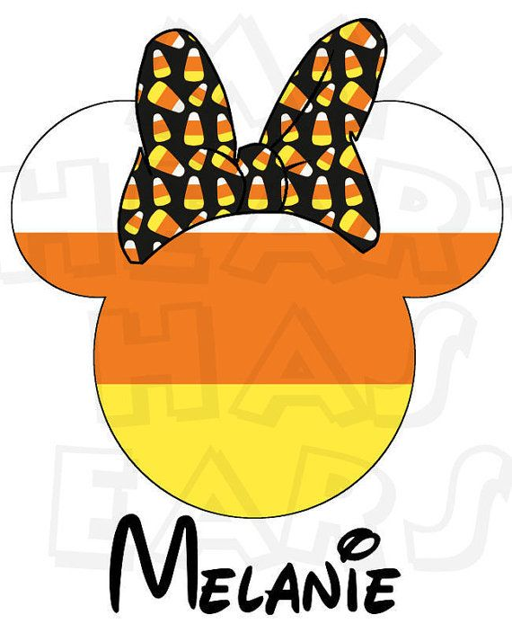 570x704 Printable Diy Candy Corn Minnie Mouse Halloween Digital Clip Art