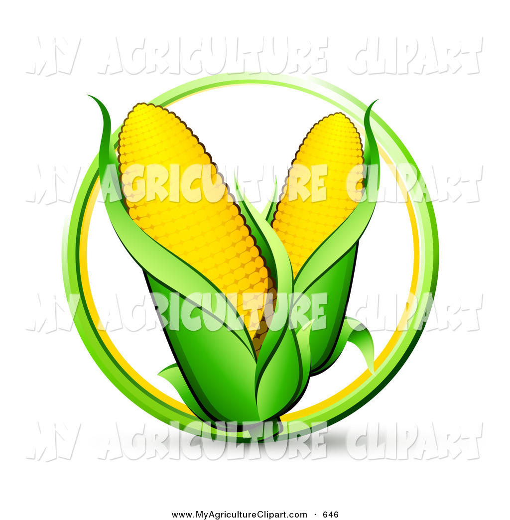 1024x1044 Vector Agriculture Clipart Of A Green And Yellow Circle Around Two