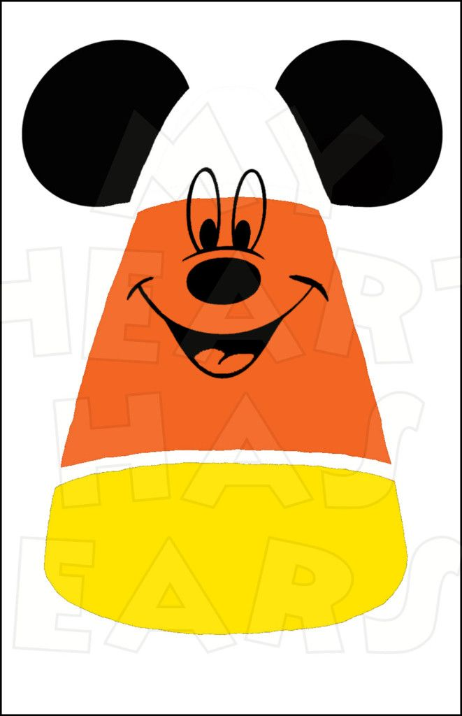 661x1024 Candy Corn Mickey Mouse Instant Download Halloween Digital Clip