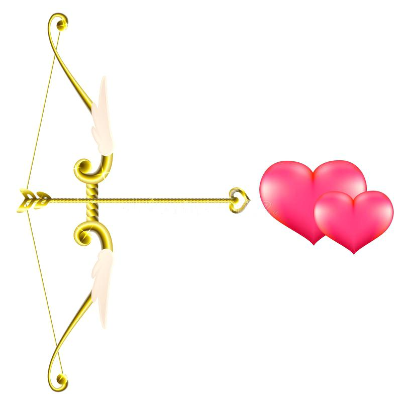 800x800 Bow Arrow Clip Art Download Valentines Day Gold Bow And Arrow