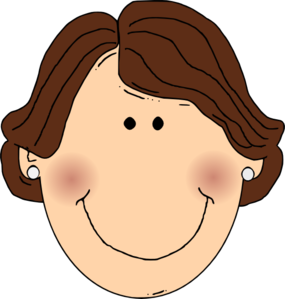 285x299 Smiling Brown Hair Lady With Earrings Clip Art