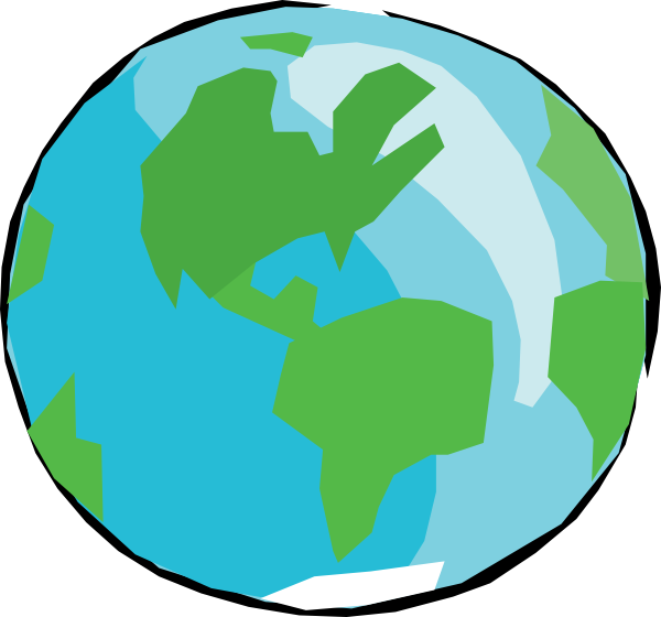 600x560 Earth With No Outlines Clip Art