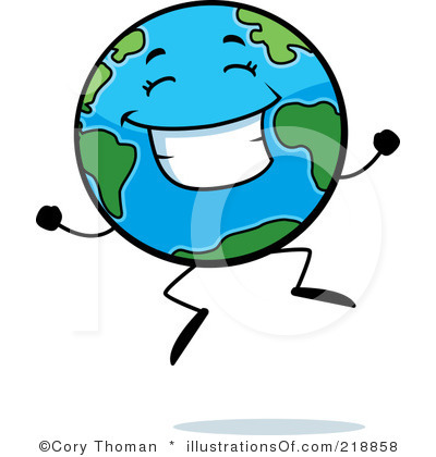 Perfect 400x420 Happy Earth Clipart Free
