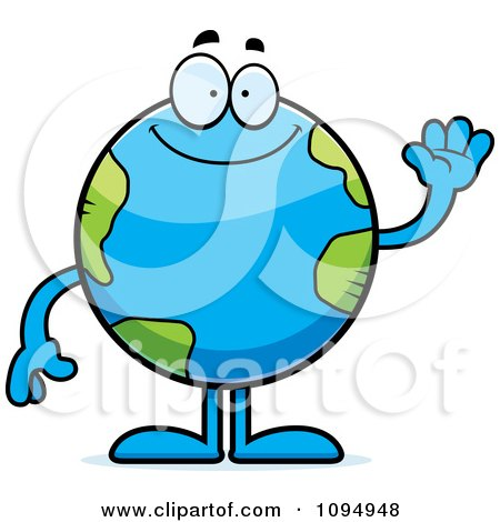 450x470 Royalty Free (Rf) Earth Character Clipart, Illustrations, Vector