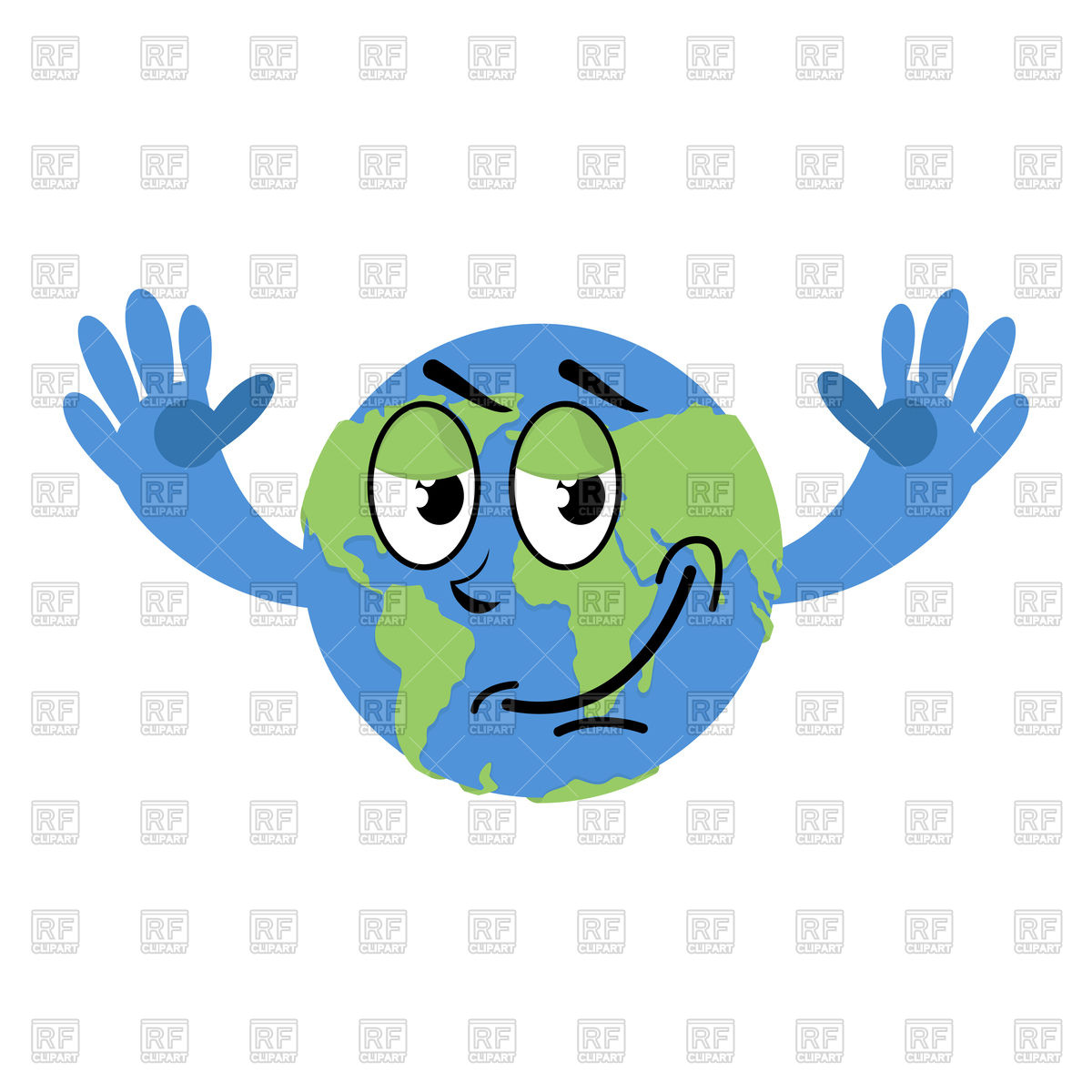 1200x1200 Happy Earth Icon. Earth Day. Royalty Free Vector Clip Art Image