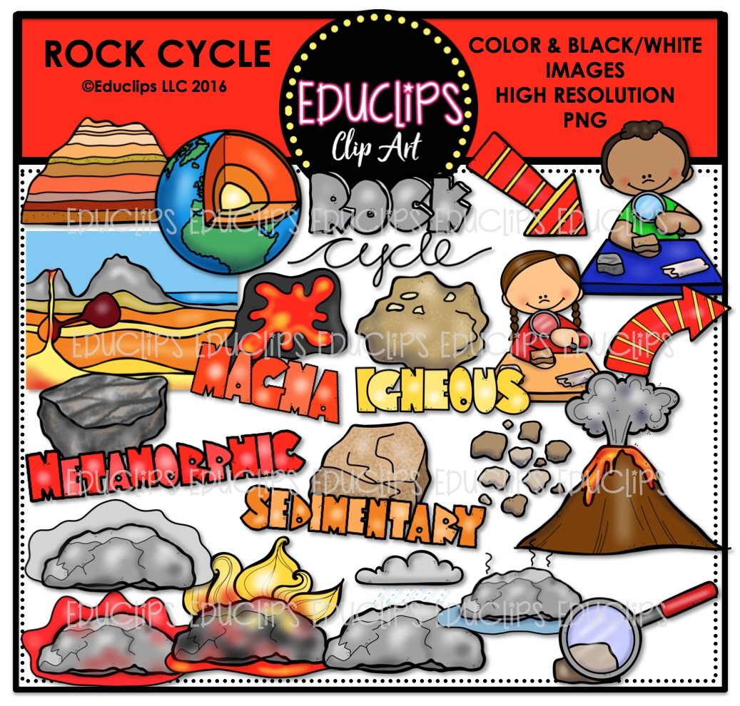 1037x990 Earth Science Rocks Amp Fossils Clip Art Big Bundle (Color And Bampw