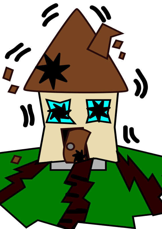 566x800 Free Clipart Earthquake With House Loveandread