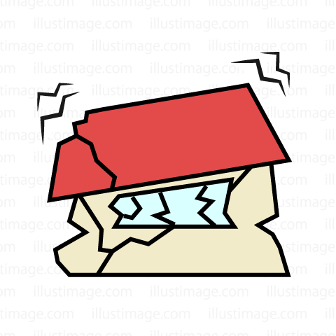 480x480 Free House Completely Destroyed By Earthquake Clip Art