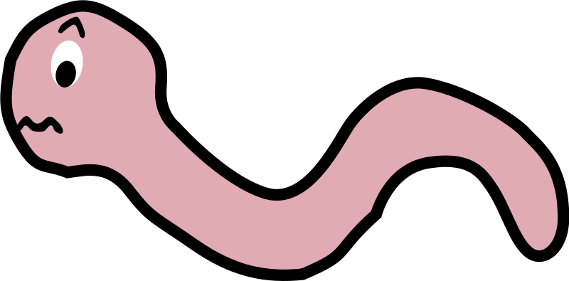 800x395 Free Clipart Funny Earthworm Cartoon Palomaironique