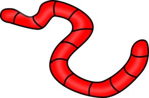 296x195 Red Earth Worm Clip Art