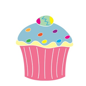 300x300 Easter Cupcake Clipart