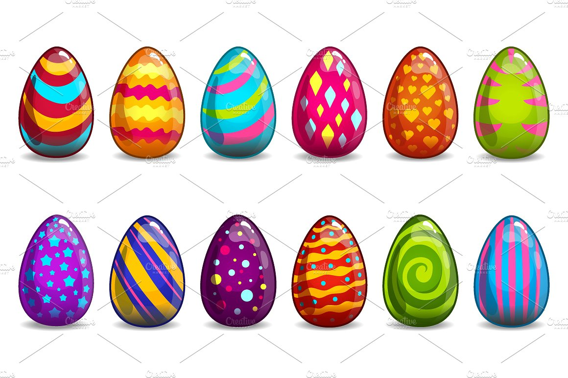1160x772 Cartoon^ Easter Eggs Images, Clip Art, Coloring Pages, In A Basket