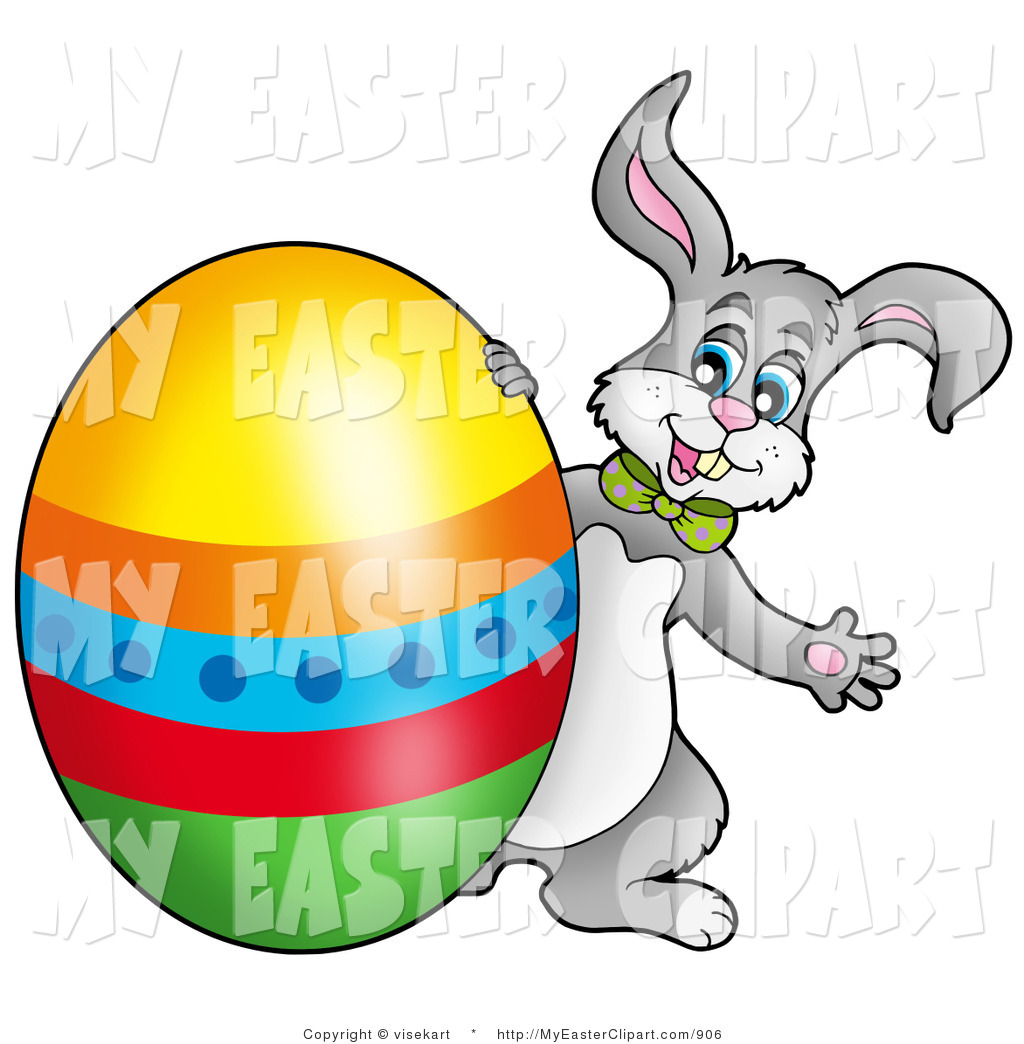 1024x1044 Vector Clip Art Of A Colorful Egg And Easter Bunny By Visekart