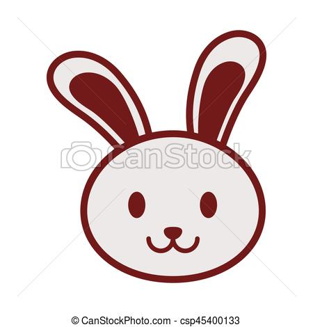 450x470 Cute Bunny Face Image Vector Illustration Eps 10 Vectors