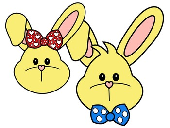 350x263 Easter Bunny Face Yellow And Black And White By Molly Tillyer Tpt