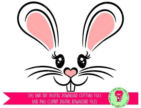 474x364 Easter Bunny Rabbit Face Svg Dxf Eps Png Files. Digital