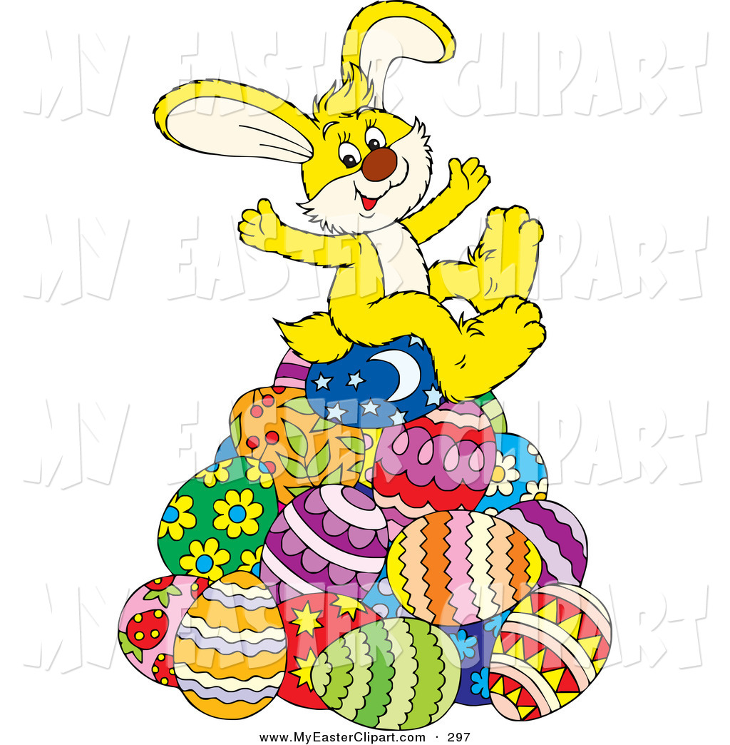 1024x1044 Clip Art A Cute And Happy Yellow Easter Bunny Sitting On Top