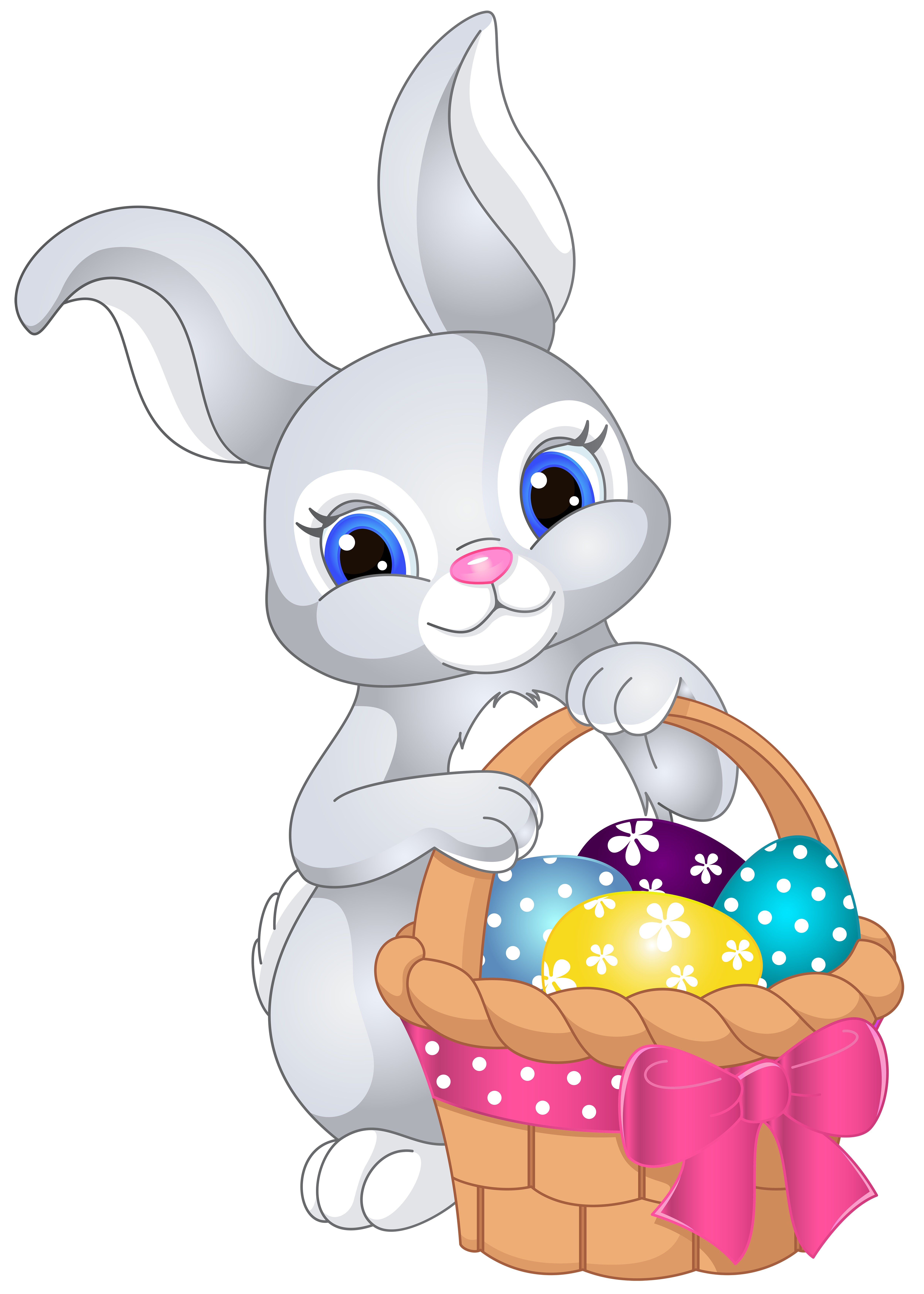5000x7000 Easter Bunny With Eggs Clipart Merry Christmas And Happy New