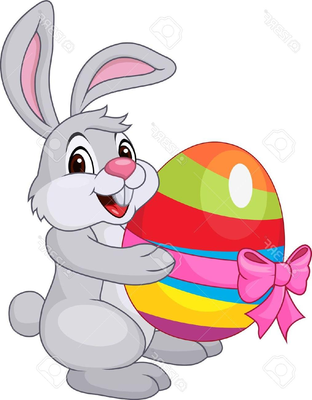 1014x1300 Noted Easter Bunny Cartoon Pictures Jumping With Egg Basket Vector