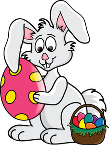226x300 Clip Art Easter Bunny Cartoon Easter Bunny Jumping With Egg Basket