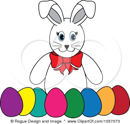 450x431 Clipart Gray Easter Bunny Holding An Egg
