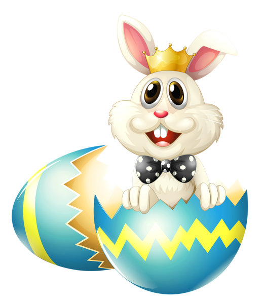 521x600 Easter Bunny With Crown Png Clipart Picture
