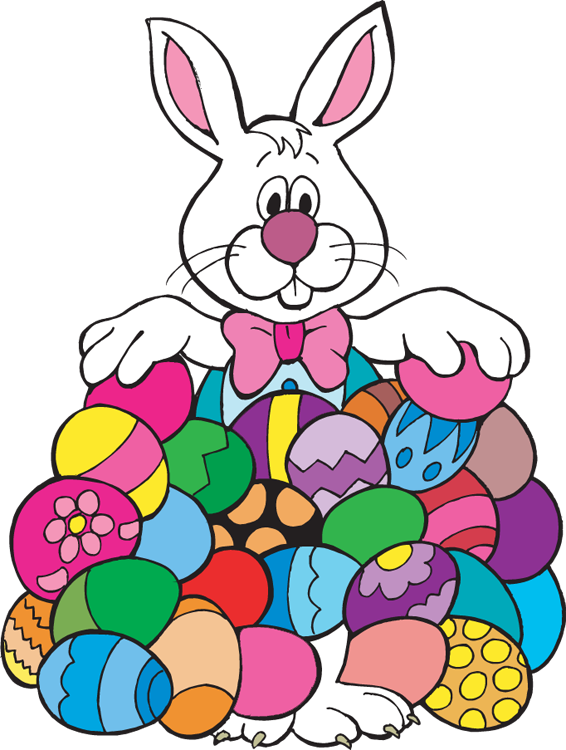 566x750 Easter Bunny With Eggs Clipart Clipart Panda