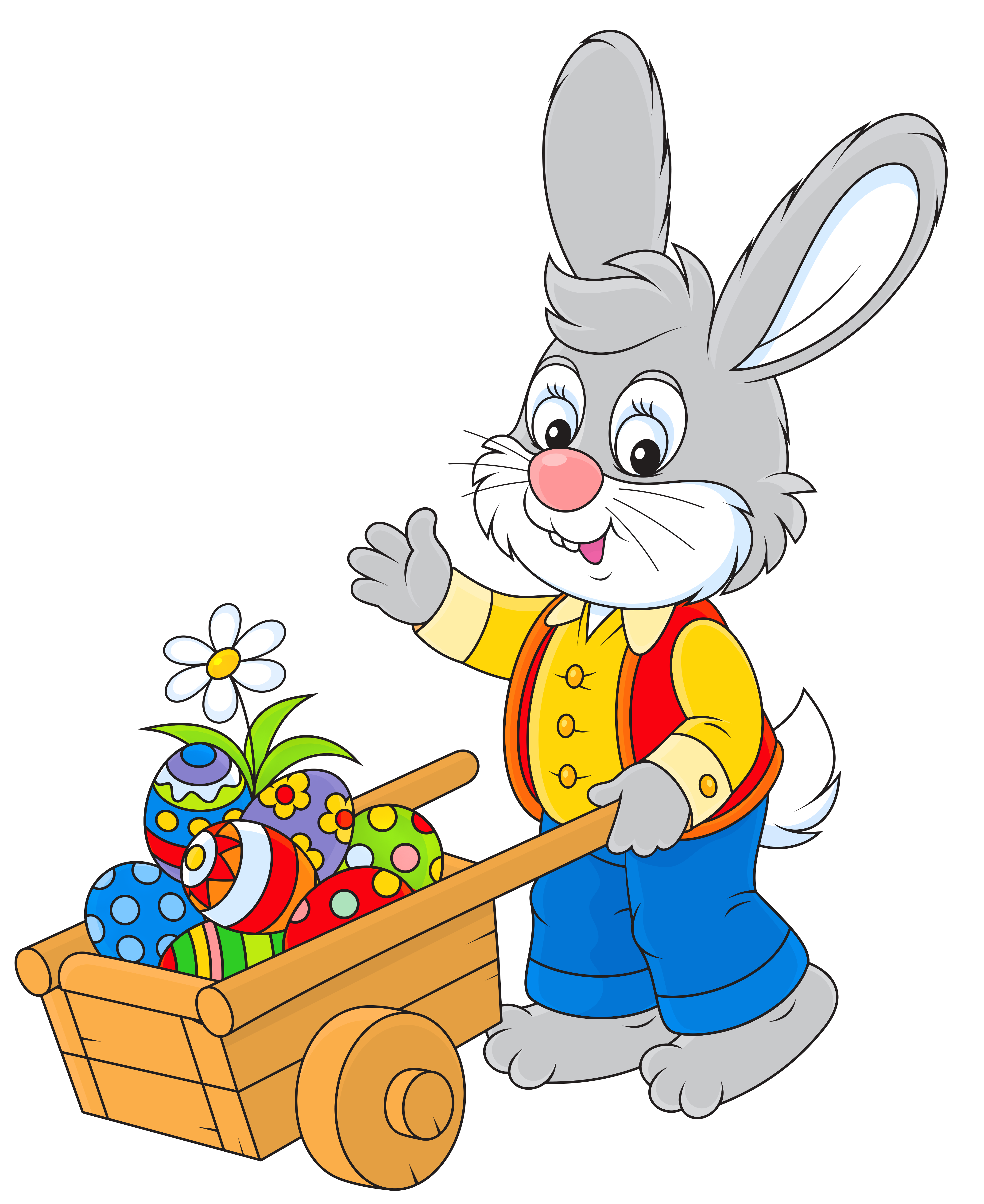 4190x5126 Easter Bunny With Egg Cart Png Pictureu200b Gallery Yopriceville