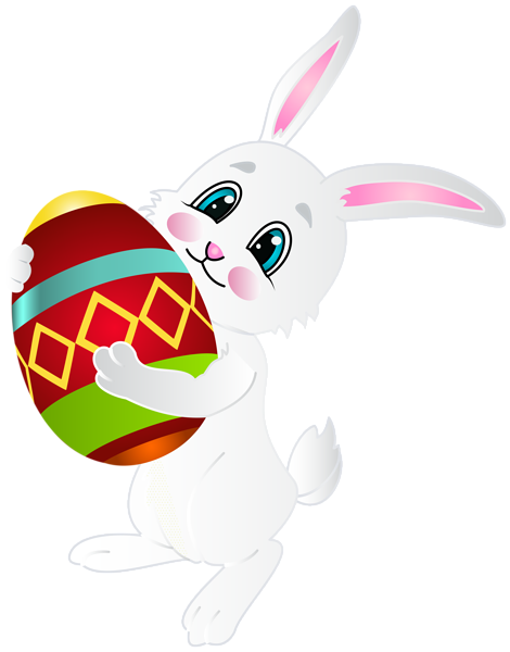 470x600 Easter Bunny With Egg Png Clip Art Image Grej