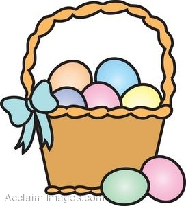 272x300 Clip Art Picture Of A Basket Of Colored Easter Eggs