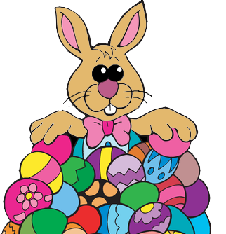 322x334 Free Clip Art Easter Bunny Merry Christmas And Happy New Year 2018