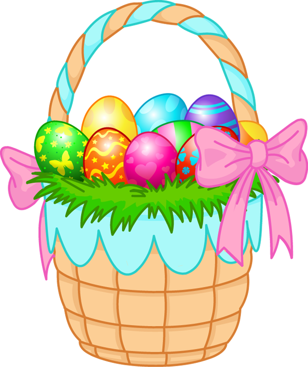 600x714 Easter Egg Basket Clip Art Merry Christmas And Happy New Year 2018