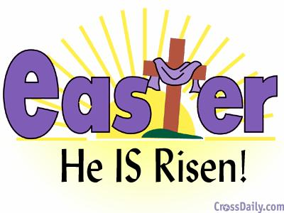 400x300 Happy Easter Religious Clipart