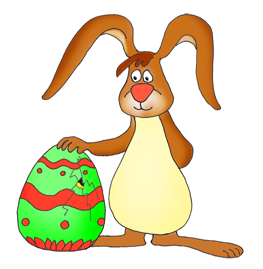519x531 Funny Easter Bunny Clipart