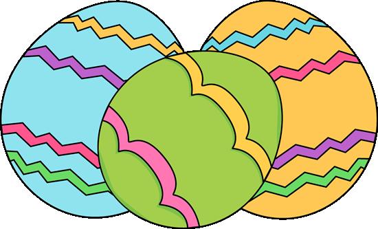 550x333 Cartoon Easter Eggs Clip Art