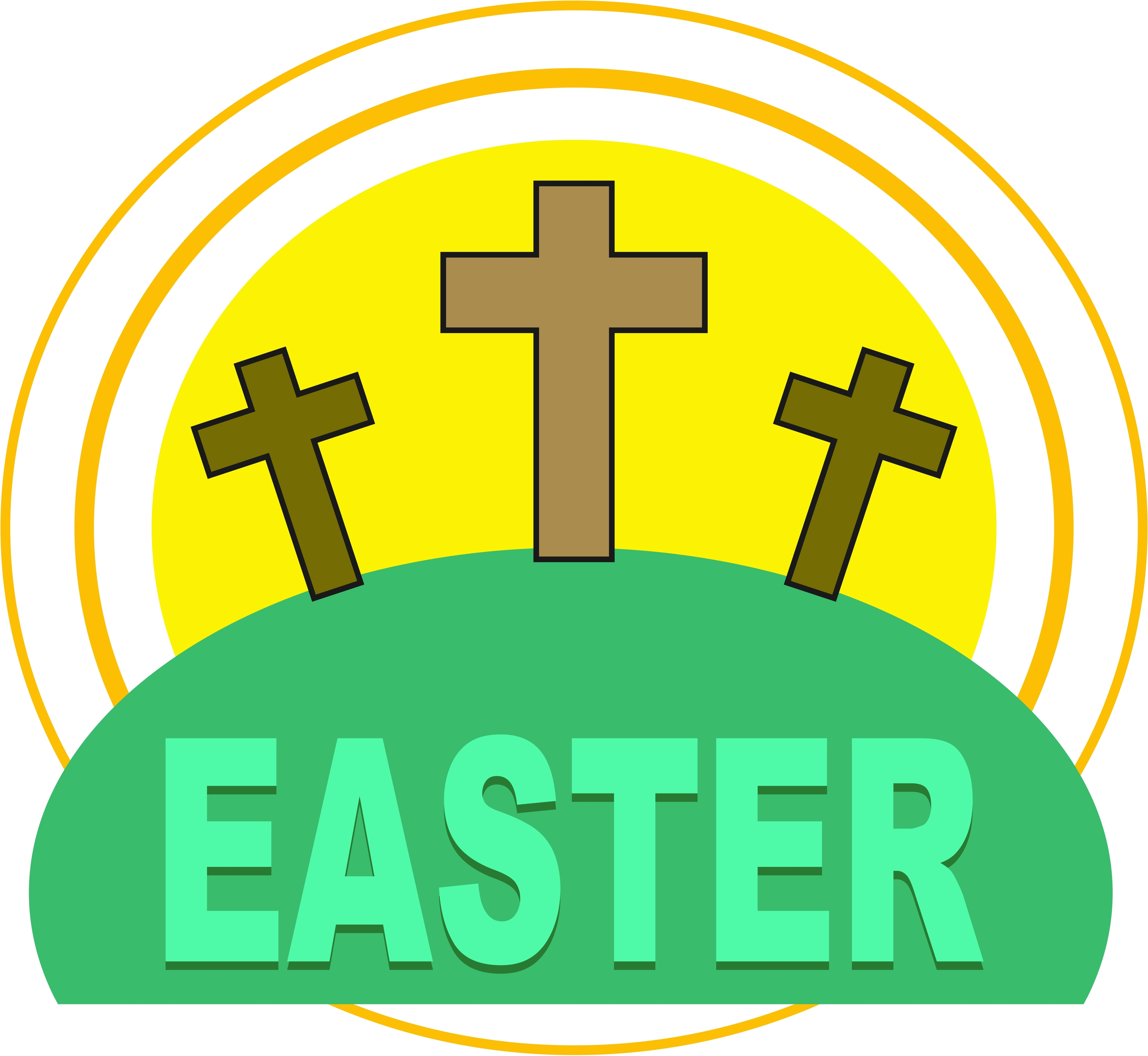 4169x3835 Religious Easter Clipart Images