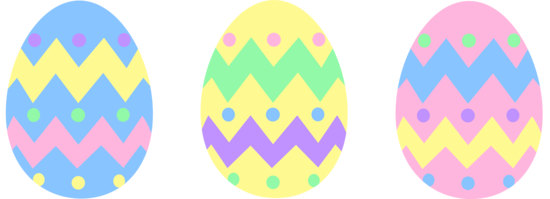 550x199 Three Pastel Colored Easter Eggs Free Clip Art Image