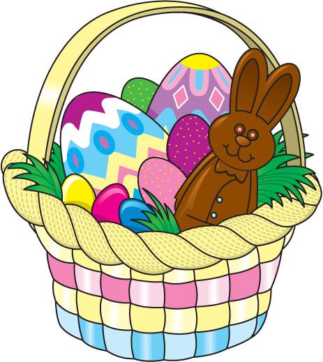 463x519 Clip Art Of Easter Easter Egg Basket Clipart Easter Basket Clipart