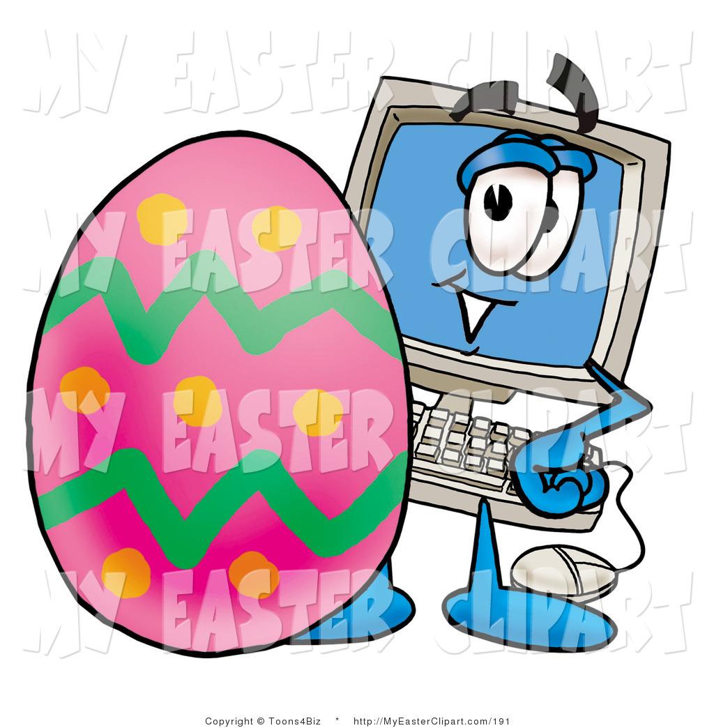 1024x1044 Clip Art Of A Desktop Computer Monitor Mascot Cartoon Character