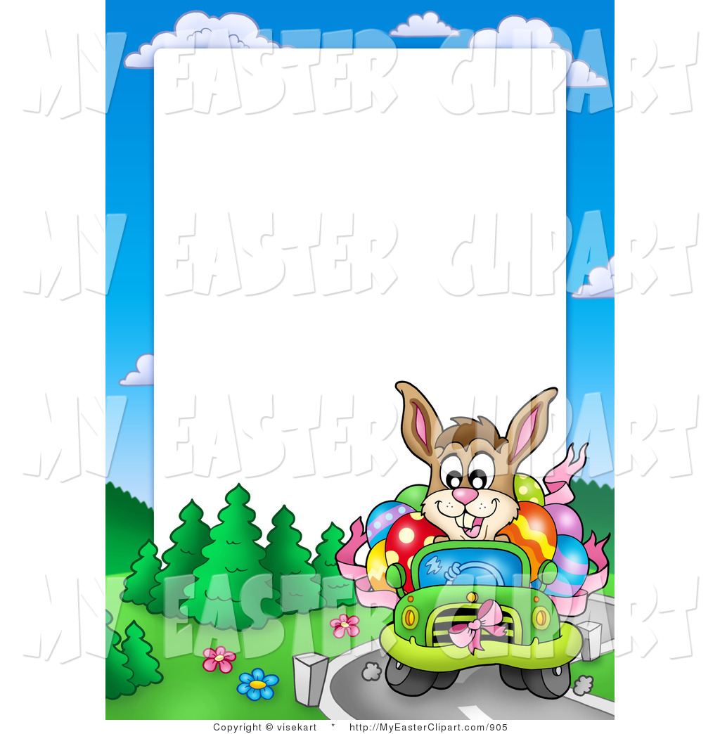 1024x1044 Clip Art Of A Driving Easter Bunny Frame By Visekart