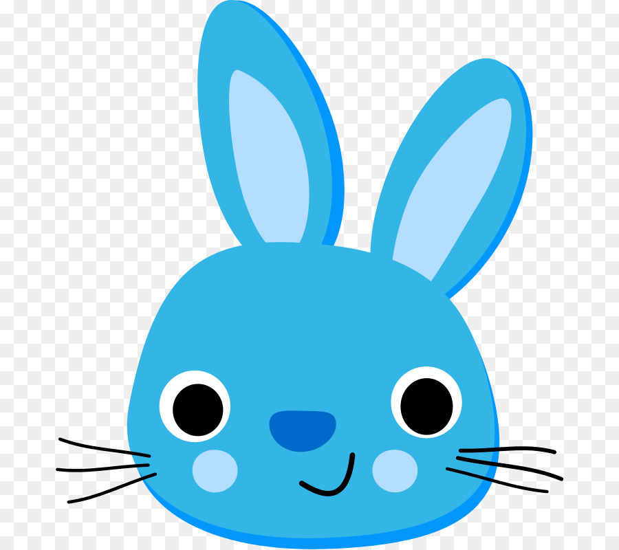 900x800 Easter Bunny Hare Rabbit Blue Clip Art