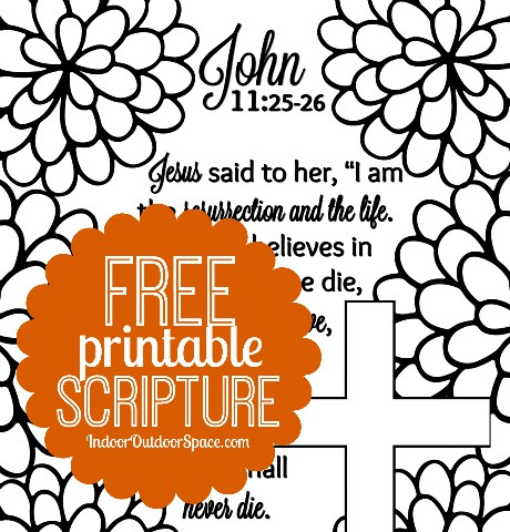 460x480 Free Scripture Verse Easter Coloring Page From John 11 Indoor
