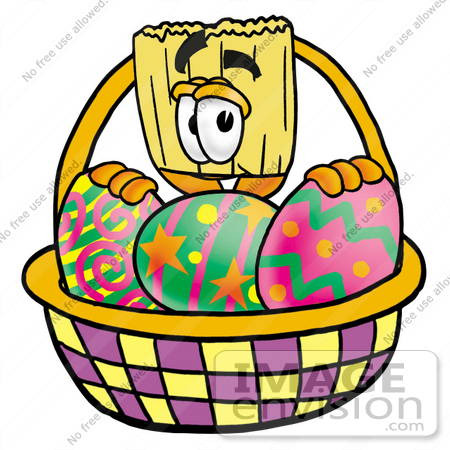450x450 Clip Art Graphic Of A Straw Broom Cartoon Character In An Easter