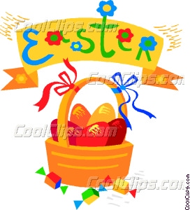 272x300 Easter Egg Basket Clip Art