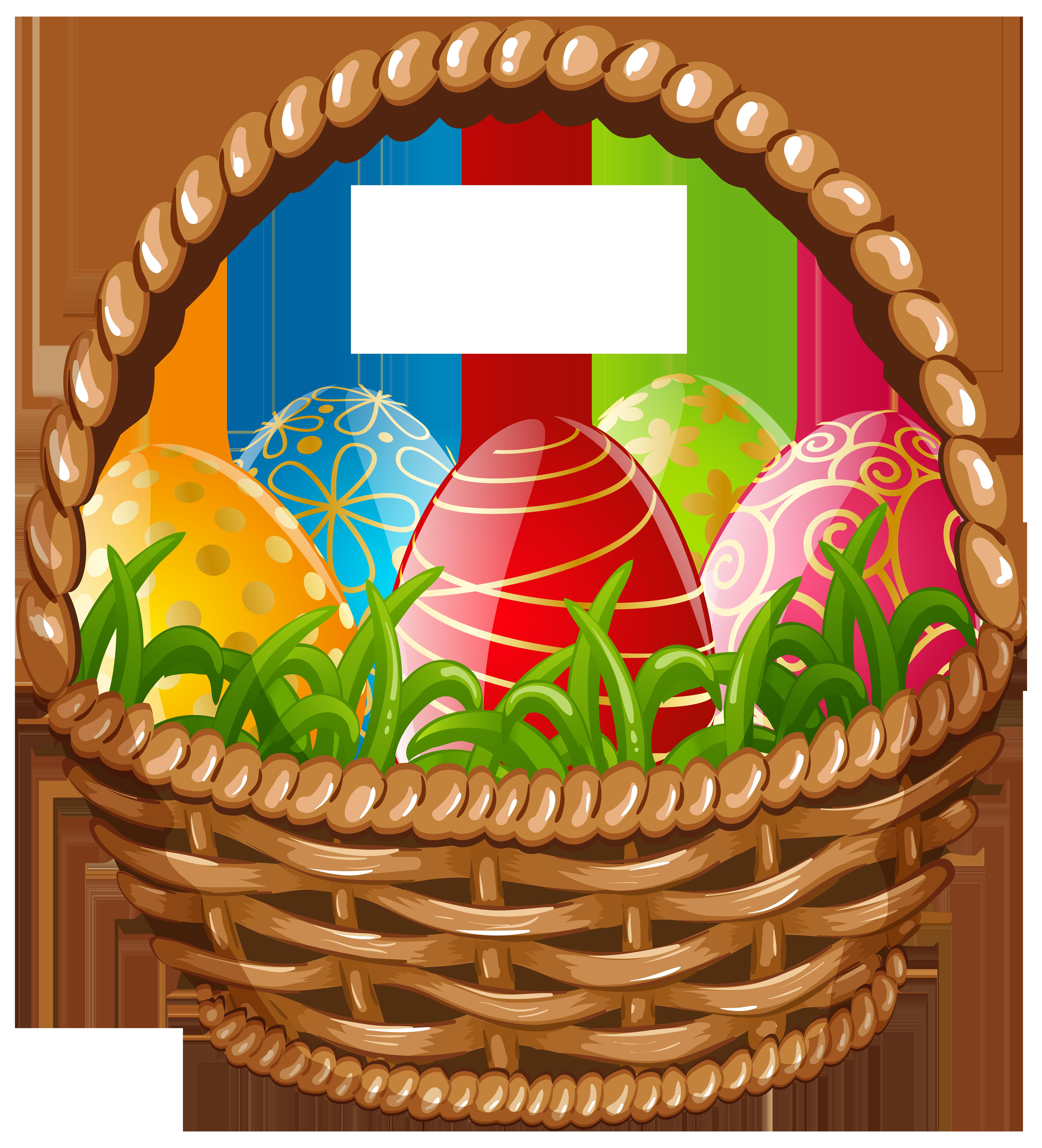 6351x7000 Easter Egg Basket Png Clip Art Imageu200b Gallery Yopriceville