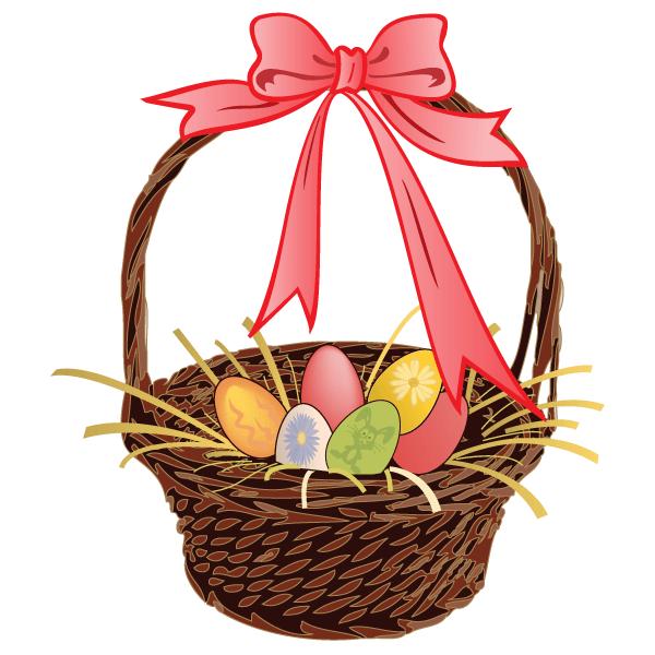 600x600 Easter Egg Basket Vector Art 123freevectors