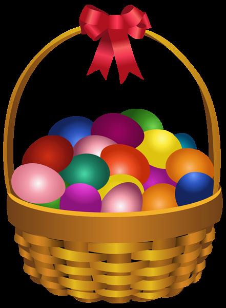 441x600 Easter Eggs In Basket Transparent Png Clip Art Image Easter Clip