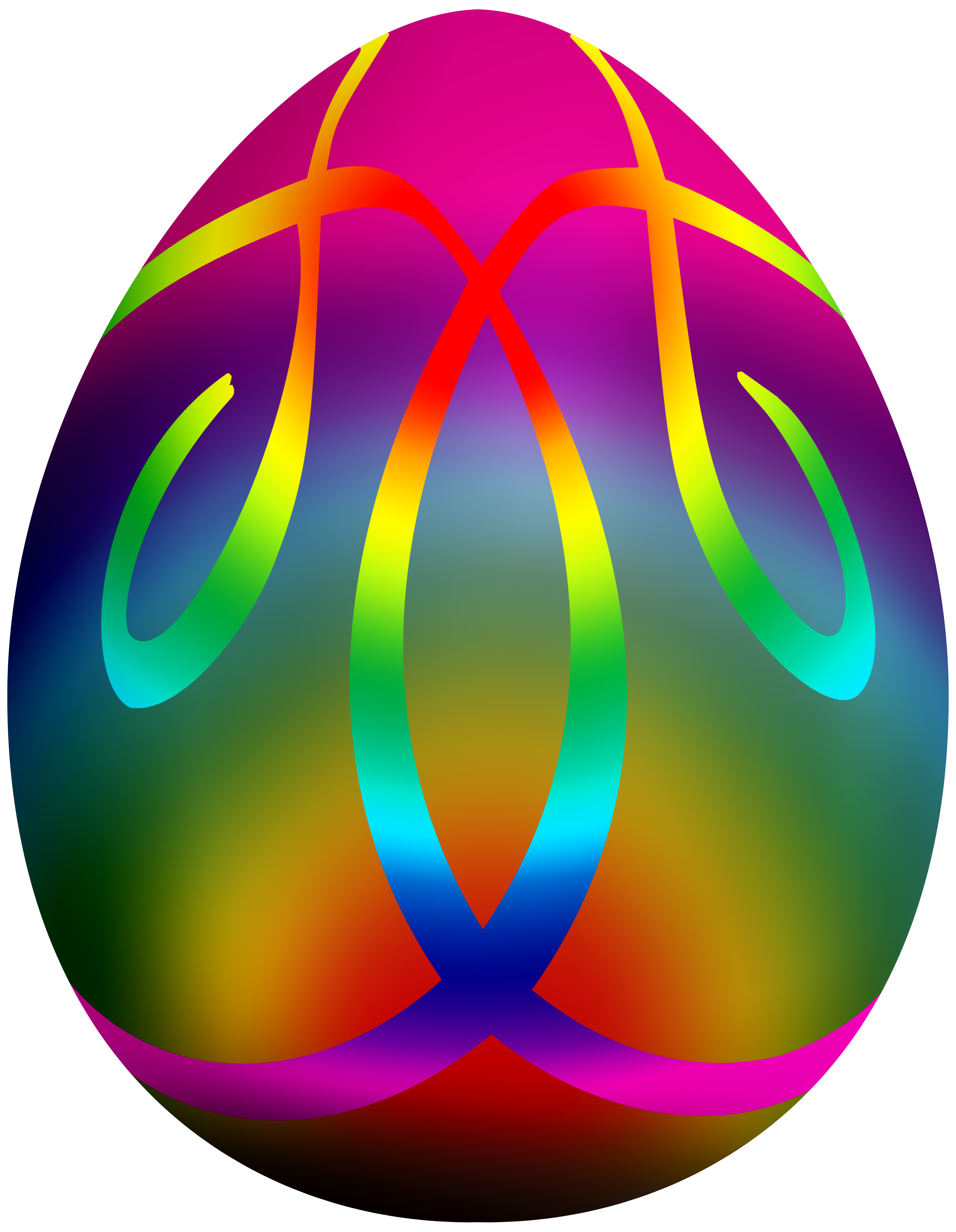 3879x5000 Colorful Easter Egg Png Clip Art